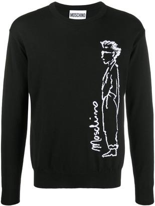 Moschino long sleeve logo print T-shirt