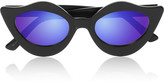 House of Holland Lipstick cat eye acetate mirrored sunglasses