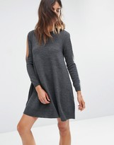 Asos Dress in Knit with Cold Shoulder Detail