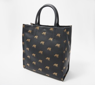 Vince Camuto Convertible Printed Leather Tote - Sosia
