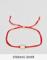 Dogeared Gold Plated Karma Sparkle Cord Reminder Bracelet