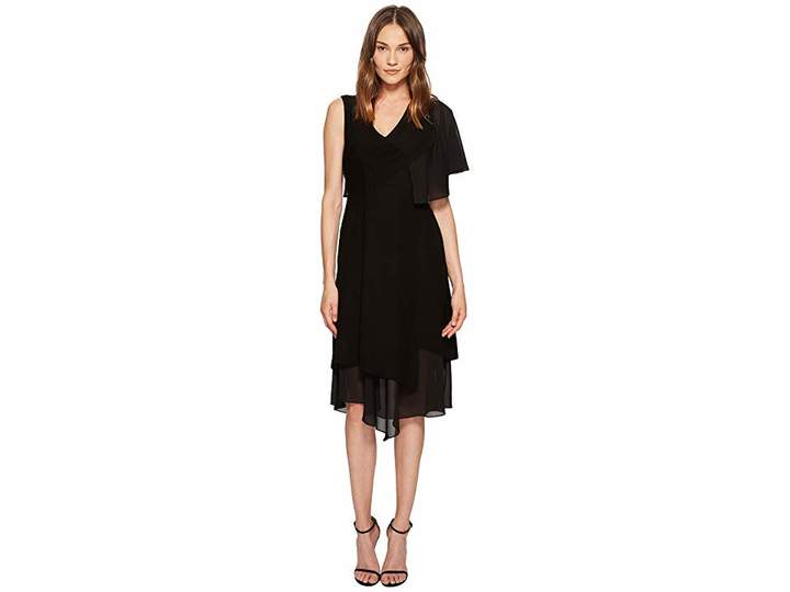 Yigal Azrouel Asymmetric Ruffle Sleeveless Dress Women's Dress