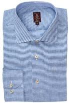 Robert Talbott Tailored Fit Check Linen Dress Shirt