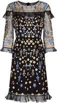 Needle & Thread Black Flower Bed Embroidered Dress