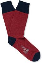 Corgi - Marled Wool And Cotton-blend Socks