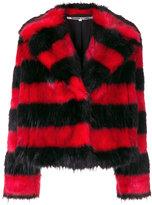 McQ faux fur striped coat
