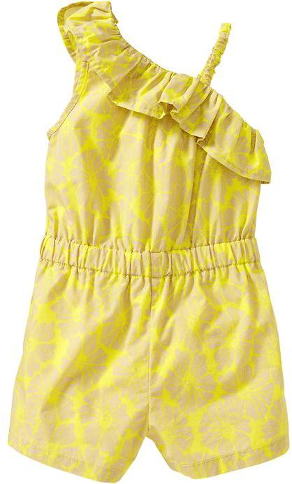 Old Navy Printed One-Shoulder Rompers for Baby