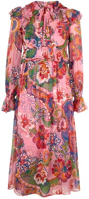 Zimmermann Lovestruck printed silk-chiffon midi dress