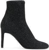 Giuseppe Zanotti Design Celeste glitter sock boots - women - Leather/Lurex - 36