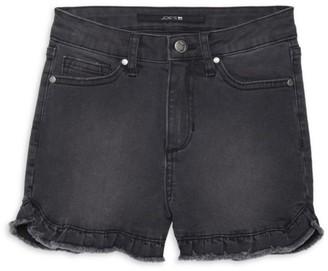 Joe's Jeans Girl's Charlie Ruffled Frayed Hi-Rise Denim Shorts