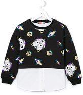 MSGM layered effect shirt sweatshirt