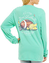 Lauren James Long-Sleeve Love and Football Game Day Tee