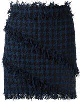 MSGM checked ruffle skirt