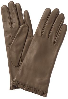 Portolano Ruffle Leather Gloves