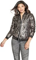 GUESS Women's Delilah Sequin Bomber Jacket
