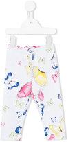 MonnaLisa butterfly print trousers - kids - Cotton/Spandex/Elastane - 24 mth