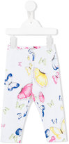 MonnaLisa butterfly print trousers - kids - Cotton/Spandex/Elastane - 6 mth