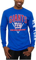 Junk Food Clothing Men's New York Giants Nickel Formation Long Sleeve T-Shirt