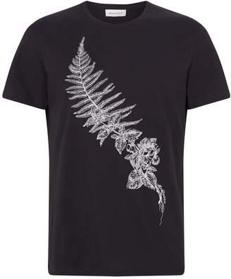 Alexander McQueen Embroidered Cotton T-Shirt