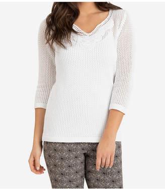 Tribal Fringe Hem Sweater