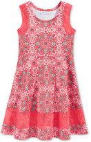 Bonnie Jean Medallion-Print Skater Dress, Toddler & Little Girls (2T-6X)