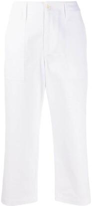 Jejia High-Rise Cropped Denim Trousers