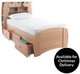 Kidspace Orlando Single Bed With Storage, Shelves And Optional Mattress