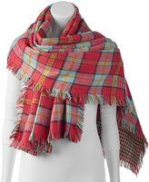 Woolrich Plaid Reversible Blanket Scarf