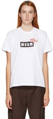 MSGM White Cupid T-Shirt