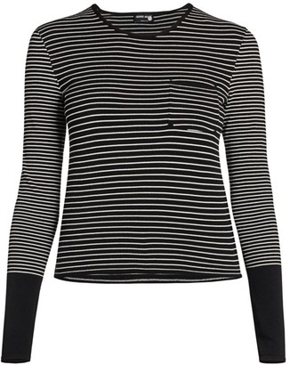 Giorgio Armani Long-Sleeve Stripe Knit Sweater