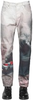 Lost Daze Ca Printed Loose Skinny Cotton Denim Jeans