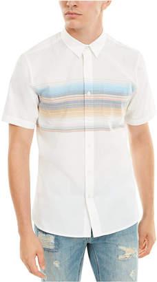 American Rag Men Wraparound Chest Stripe Shirt