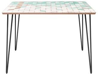 Bungalow Rose Olstykke-Stenlose Dining Table Top Color: Walnut, Base Color: Black