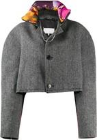 Maison Margiela cropped button-front jacket