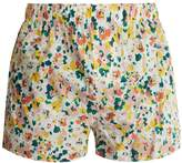 DRUTHERS Watercolour floral cotton boxer shorts