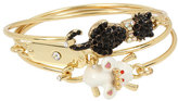 Betsey Johnson Betsey Gifting Cat And Mouse Bangle Set