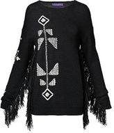 Ralph Lauren Fringed Silk-Blend Sweater