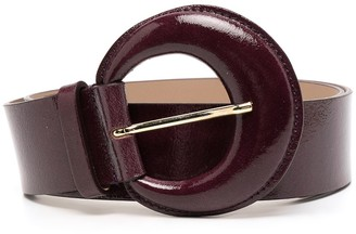 B-Low the Belt Round-Buckle Leather Belt