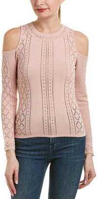BCBGMAXAZRIA Cold-Shoulder Top