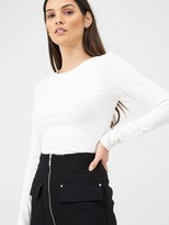 Very Zip Front Pencil Skirt