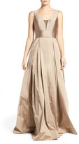 Aidan Mattox Women's Pleated Ballgown