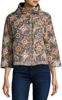 Raga Kaleidoscope Dreams Embroidered Coat, Green