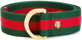 Gucci D ring Web belt - women - Cotton - 90