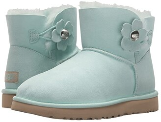 UGG Mini Bailey Button Poppy (Aqua) Women's Shoes