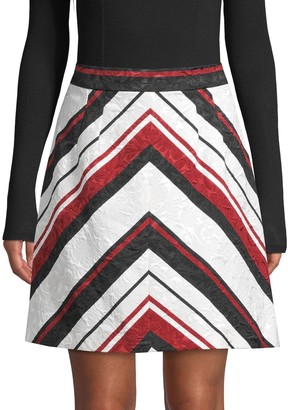 Dolce & Gabbana Chevron-Striped A-Line Skirt