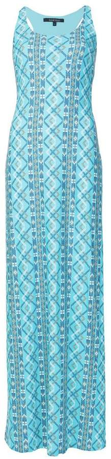 Fisico patterned fitted maxi dress