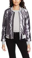 MinkPink Women's Braveheart Quilted Bomber Parka Long Sleeve Jacket,(Manufacturer Size:Medium)