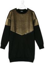Diesel Teen metallic block dress