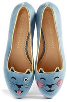 Charlotte Olympia Women's Lol Kitty Flat
