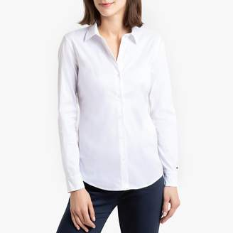 Tommy Hilfiger Cotton Mix Fitted Shirt with Long Sleeves